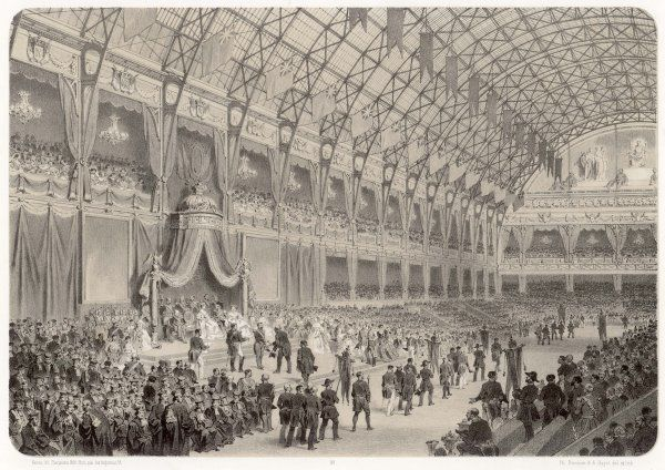 The closing ceremony of the Paris Exposition, when prizes were awarded to the exhibitors in the Palais de l'Industrie