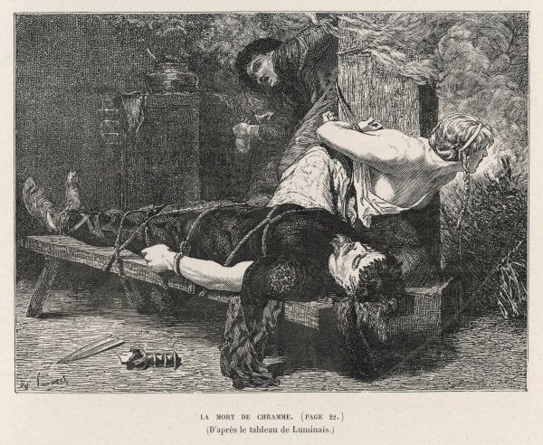 When Chramne, son of Clotaire I king of the Franks, rebels against his father, the king has him and his family strangled and their bodies incinerated