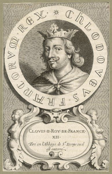 CLOVIS II king of Neustria, the first of 'les rois faineants' (kings in name only)