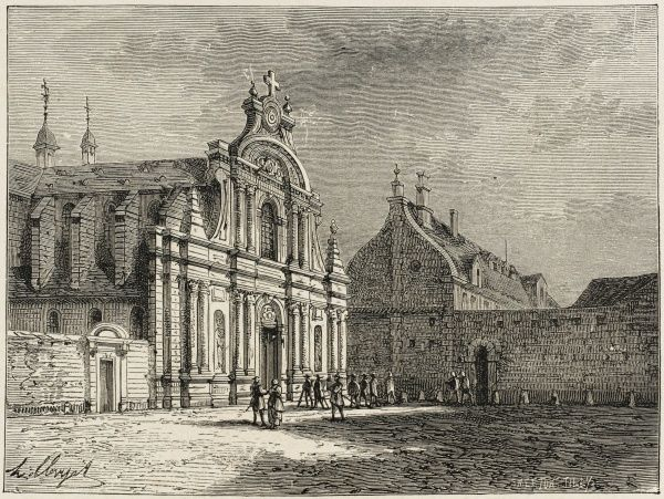 A body of moderates splitting from the Jacobins to pursue a less extremist course, the Feuillants make their home in an old convent near the Tuileries (now destroyed)