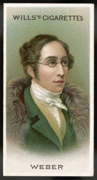 CARL MARIA VON WEBER German composer