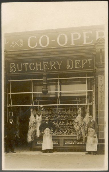 Royal Arsenal Co-operative Society butchery department shop (probably in Lewisham)