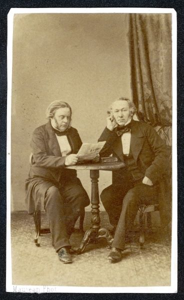 RICHARD COBDEN English politician and economist, with his friend and ally John Bright