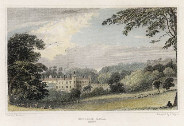 Cobham Hall, near Chatham, Kent, the seat of Earl Darnley