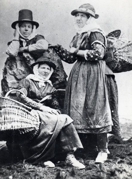 Three cockle women of South Wales, in a posed photograph