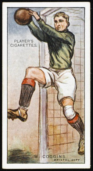W Coggins, Goalkeeper for Bristol City