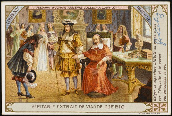 Colbert(junior) presented to Louis XIV by Mazarin
