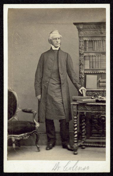JOHN WILLIAM COLENSO bishop of Natal, deposed for unorthodox views, championed natives against Boers