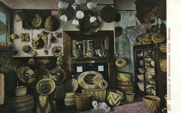 Collection of Northwestern Indian Baskets Date: 1910