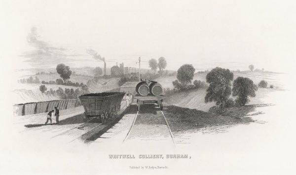 The railway at Whitwell colliery, county Durham