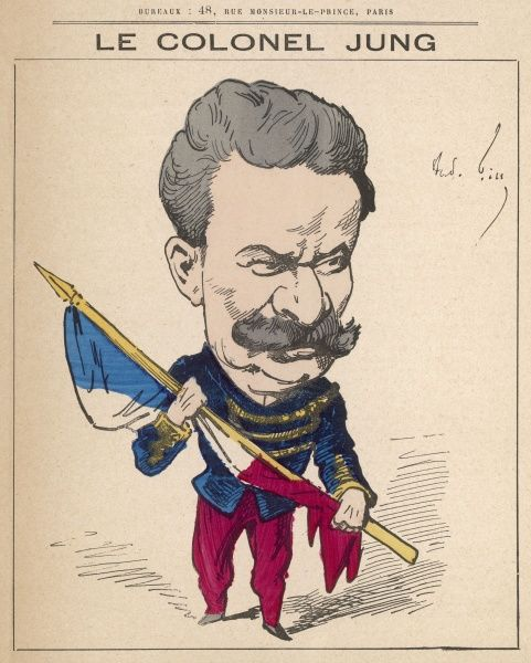 Colonel Theodore Jung (1833-1896) French army officer, author, publisher of columns in magazines (under the pseudonym Mustapha) as well as works on the Franco Prussian War of 1870-71
