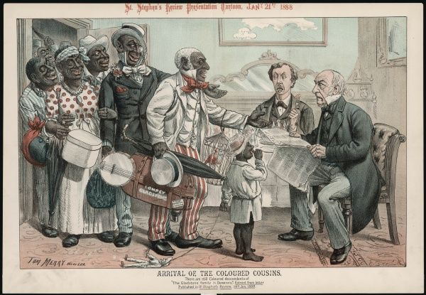 To Gladstone's dismay, his coloured cousins arrive from the West Indies, hoping to be welcomed into Britain