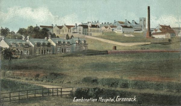 The Greenock Combination Hospital was erected in 1906-7 on Inverkip Road, Greenock, to serve the combined burghs of Greenock, Port Glasgow, and Gourock. It later became known as Gateside Hospital