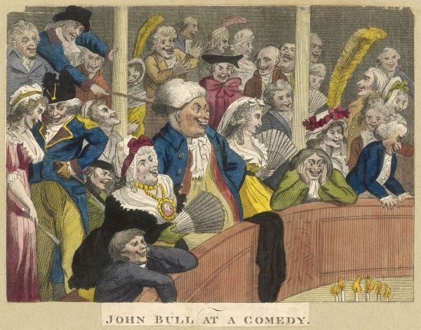 JOHN BULL AT A COMEDY The audience in stitches one of a set of two