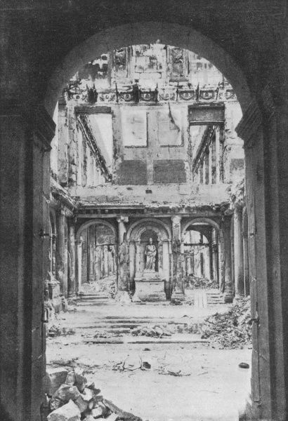 Destruction of the palais des Tuileries - all that's left of the vestibule where so many distinguished guests have made their entrance