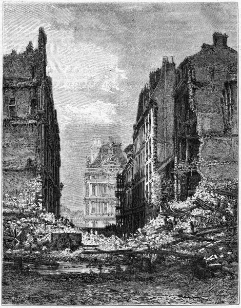 Destruction in the rue du Bac, on the rive gauche