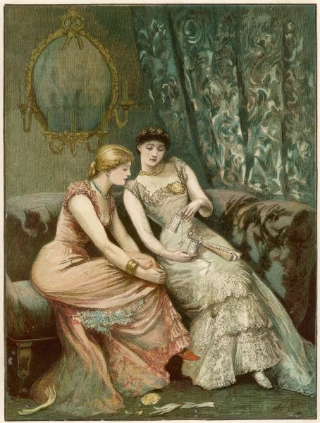 After the ball - two girls compare their dance programmes