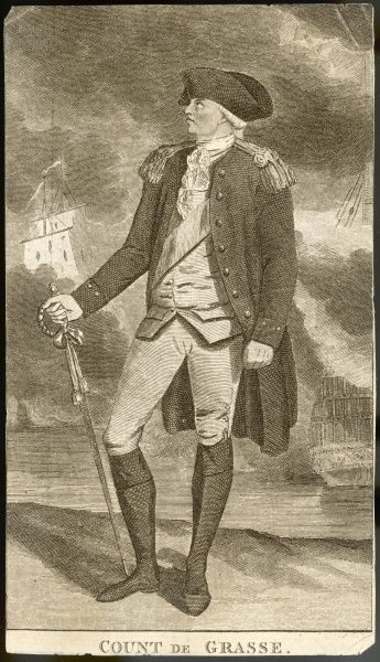 Francois Joseph Paul, comte de GRASSE French naval officer who fought the English in the West Indies. He was defeated by Admiral Rodney in 1782
