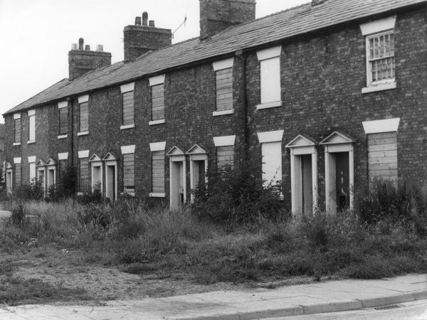 Lovely old terraced houses, sadly due for demolition. Date: 19th century