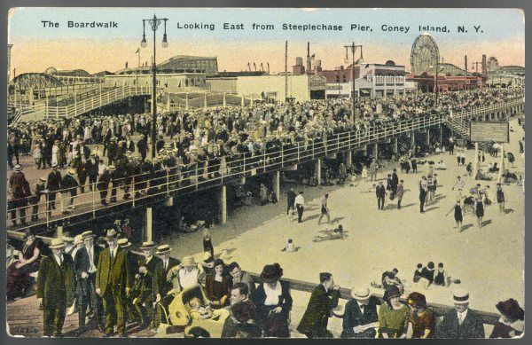 Coney Island, New York, on a popular holiday
