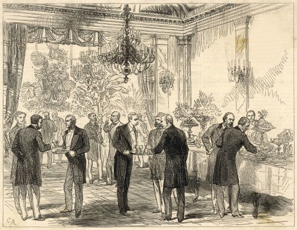 A glass of congress sherry: A scene in the dining room at the Radziwill Palace, Berlin, the setting for the Congress of Berlin