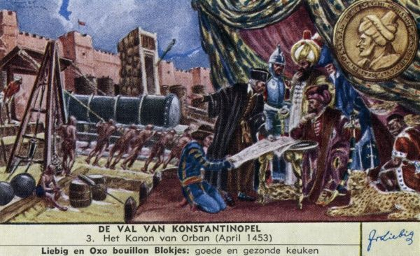 The cannon of sultan Orban Date: April 1453