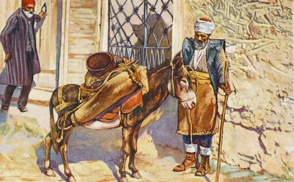 Constantinople - Water Carrier with donkey