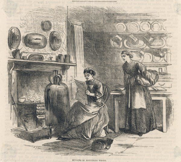 Cook and housemaid in the kitchen