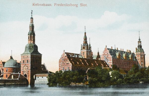 Frederiksborg castle is a castle in Hillerod, Denmark. It was built as a royal residence for King Christian IV, and is now known as The Museum of National History. The current building replaced a previous castle erected by Frederick II (c.1560)