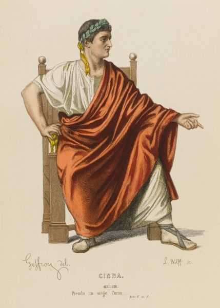 'CINNA' The emperor Augustus, whose clemency is the subject of the drama