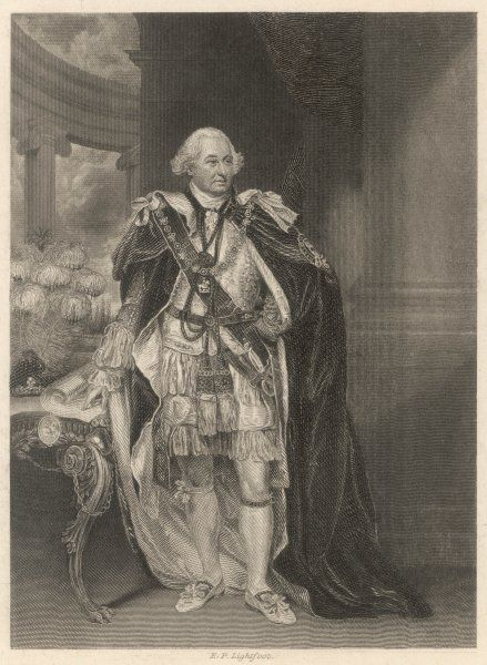 CHARLES, second earl and first marquess CORNWALLIS British military commander, governor-general of India, depicted in his Garter robes as Lord Lieutenant of Ireland