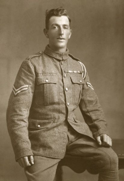 Corporal R Adams, DCM (Distinguished Conduct Medal), British soldier during the First World War. He served as a driver. Date: 1914-1918