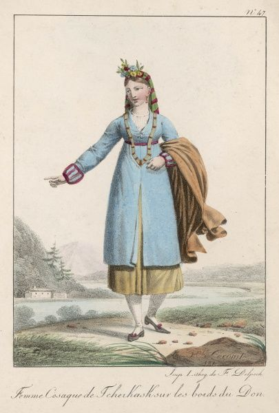 Cossack woman from the region of the Don river