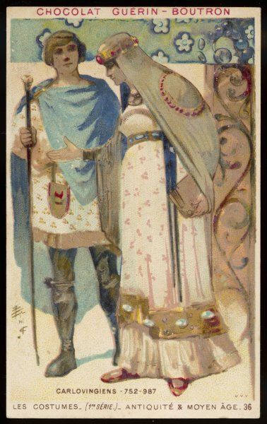 A man and woman of the Carlovingian period