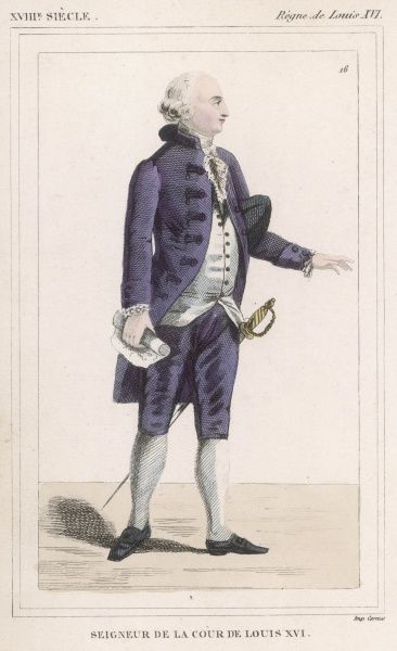 French gentleman in court dress during the reign of Louis XVI