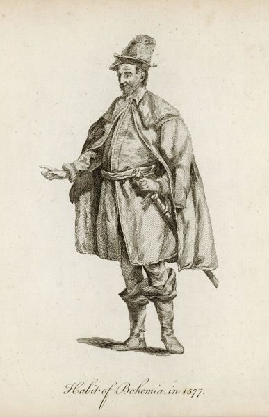 Habit of a man from Bohemia of 1577