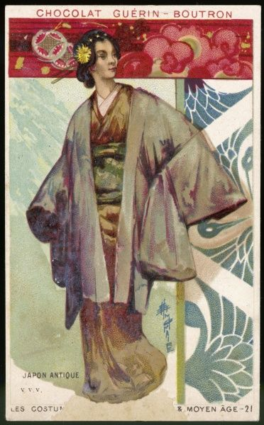 A Japanese woman in traditional dress