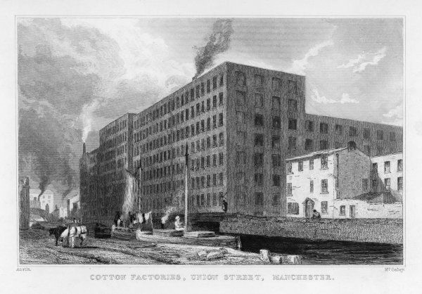 The cotton mills in Union Street, Manchester