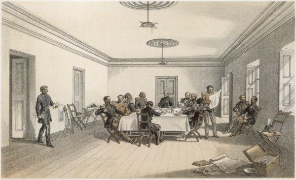 A Council of War at Lord Raglan's headquarters