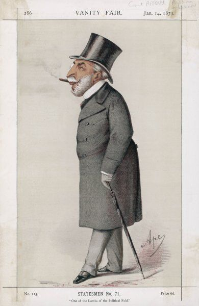 COUNT GYORGY APPONYI Austro-Hungarian statesman Date: 1809 - 1899