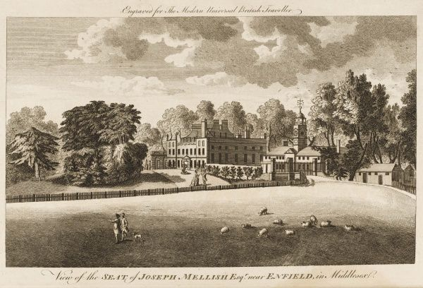 View of the seat of John Mellish Esq near Enfield in Middlesex