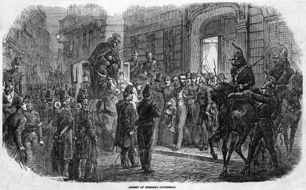 General Cavaignac, one of Napoleon's most formidable political opponents, is arrested by troops loyal to Napoleon