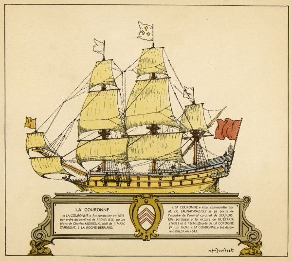 French warship, commanded by De Launay-Razilly