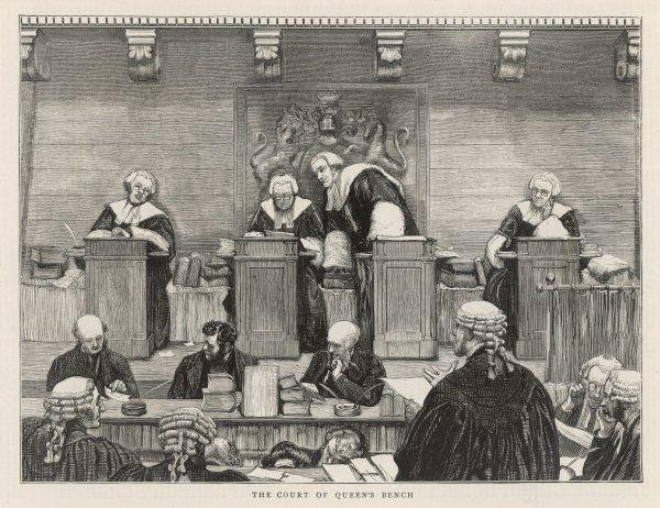The Court of the Queen's Bench in session