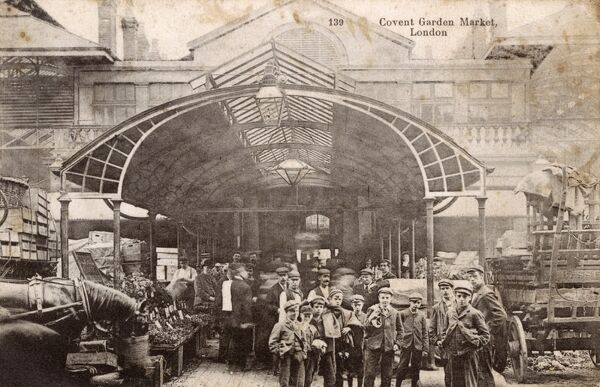 Covent Garden Market, London Date: circa 1907