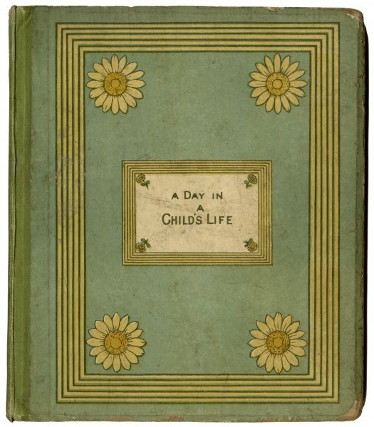 Cover design, A Day in a Child's Life, with illustrations by Kate Greenaway and music by Myles B Foster.  first published 1881