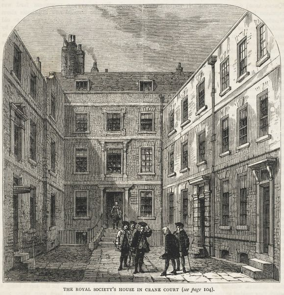 The Royal Society had its premises here at this time