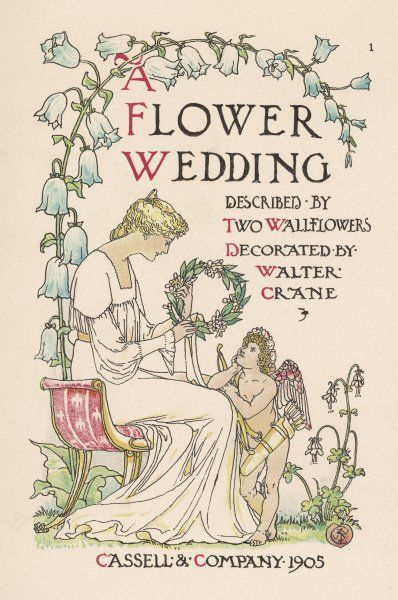 A FLOWER WEDDING described by two wallflowers Title page