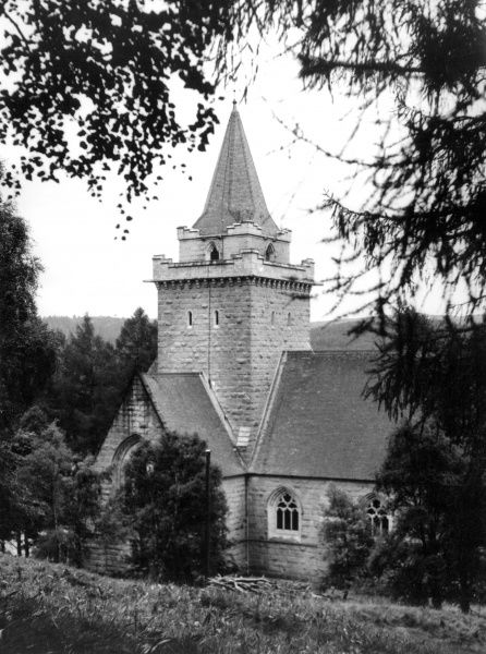 Crathie Church, Balmoral, Aberdeenshire, Scotland, where the Royal Family worship when in residence at Balmoral Castle. Date: 1960s photo