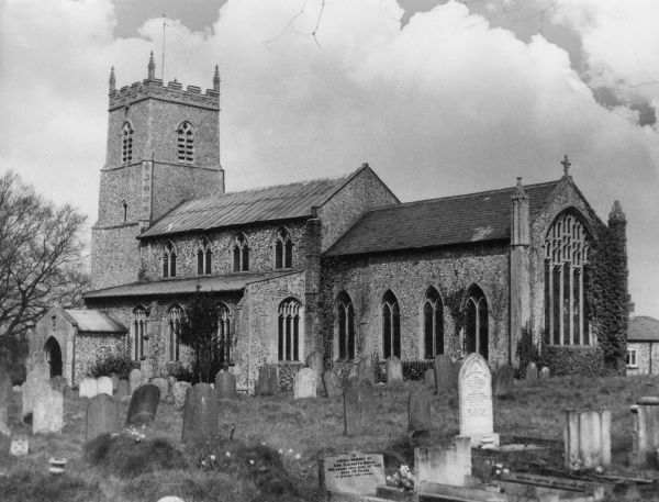 The fine old church at Cressingham, Norfolk, England. Date: Medieval